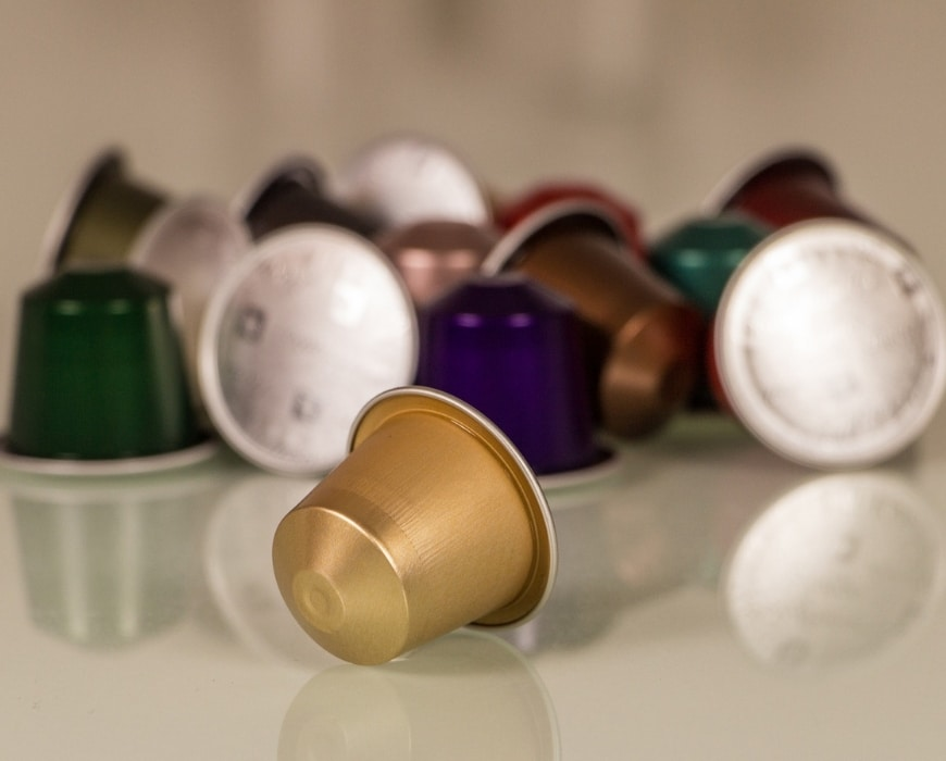 Coffee pod machine capsules