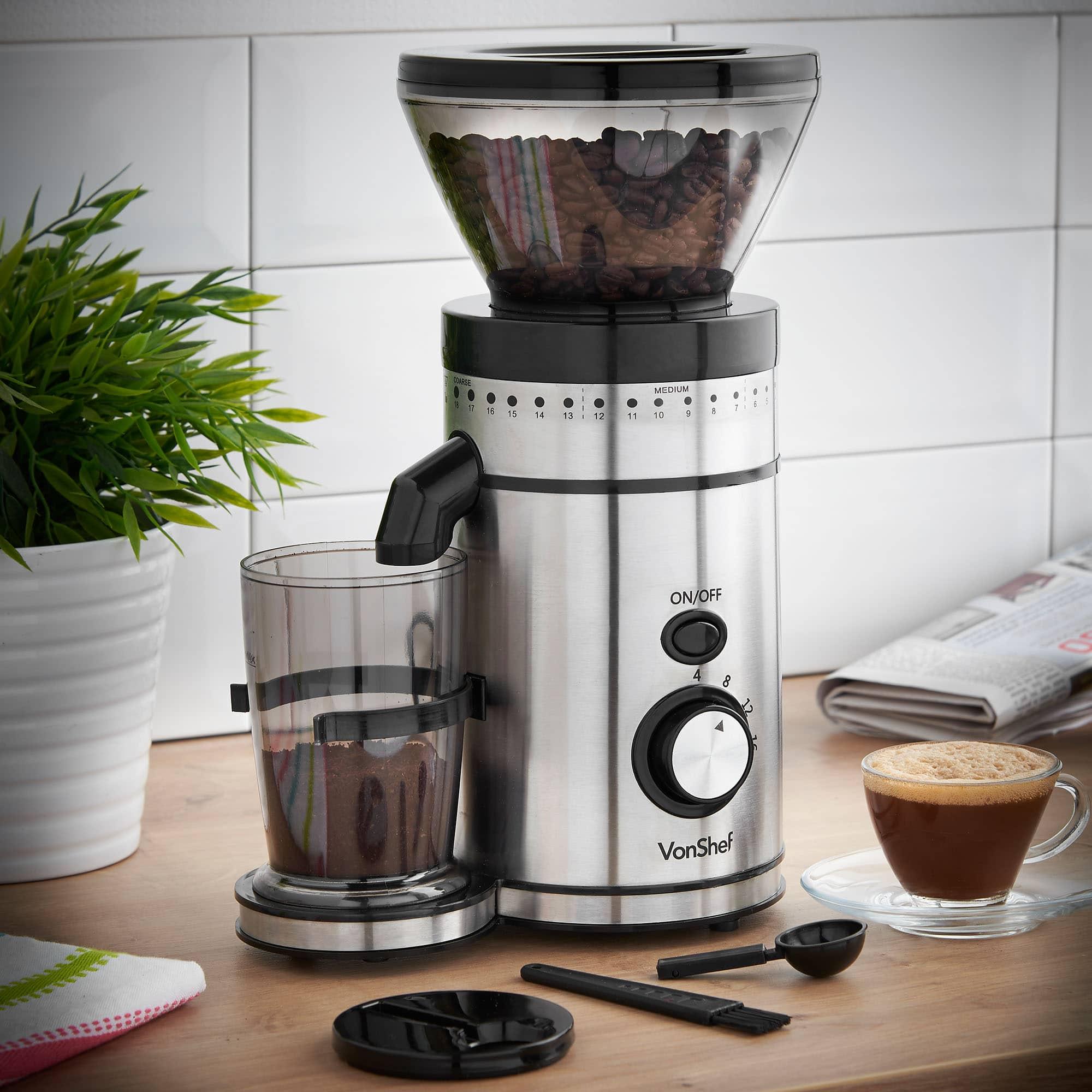 VonShef Premium Burr Coffee Grinder